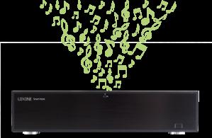 Loxone Musikkserver 20 soner