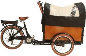 Elektrisk sykkel Cargo bike med lasteplan