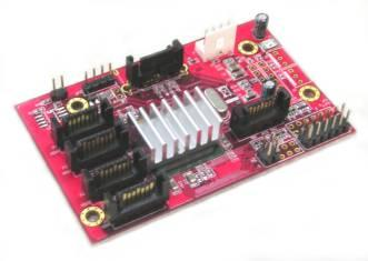LyCOM ST-126 SATA 1-To-5 Port Multiplier bridge board