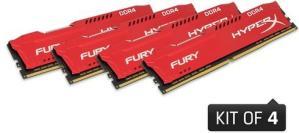 Kingston HyperX Fury Red DDR4 2666MHz 64GB (4x16GB)