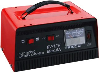 6V/12V 8A batterilader