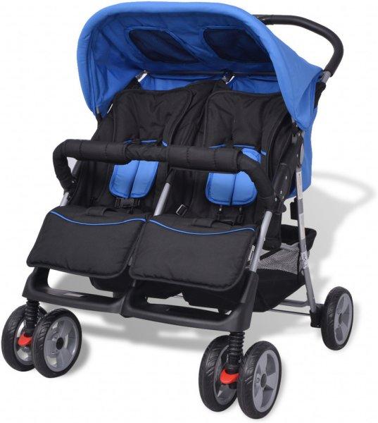 VidaXL Baby Tvillingvogn