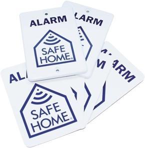 Safe Home Alarmskilt 8-Pack
