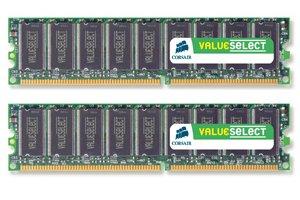 Corsair ValueSelect DDR 400MHz 2GB CL3 (2x1GB)