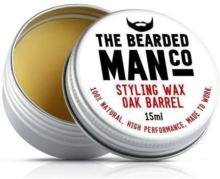 The Bearded Man Company Moustache Wax Oak Barrel