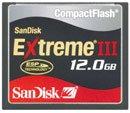 SanDisk CompactFlash Extreme III 12GB