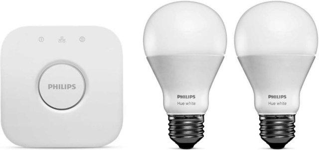 Philips Hue White E27 800lm Startpakke (2 lyspærer)