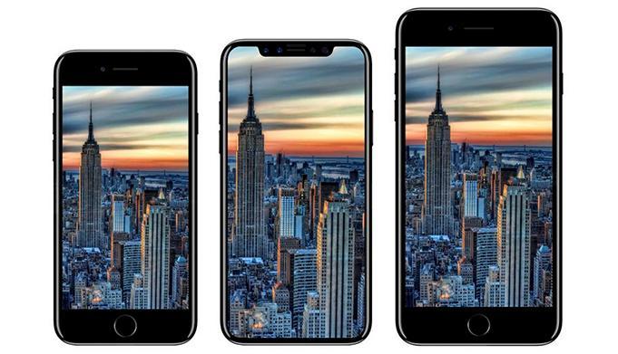Dummyskisser på nye iPhone X og 8