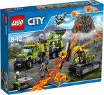 LEGO City Vulkanforskernes base, med kjøretøy 60124