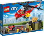 LEGO City Brannvesenets utrykningsenhet - helikopter 60108
