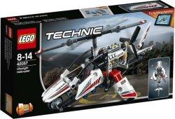 LEGO Technic Ultralett Helikopter, rødt/hvitt 42057