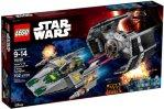 LEGO Vader's TIE Advanced vs. A-Wing Starfighter 75150