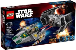 LEGO Vader's TIE Advanced vs. A-Wing Starfighter 75150