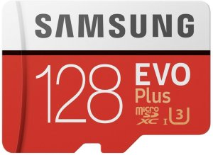 Samsung micro SDXC Evo plus 128GB med SD-adapter