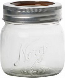Hadeland Glassverk Norgesglasset med skrukork 0,4L
