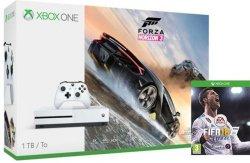Microsoft Xbox One S 1TB Forza 3 og FIFA 18