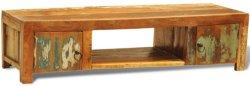 VidaXL TV-kabinett/skap av resirkulert tre antikk stil med 2 dører