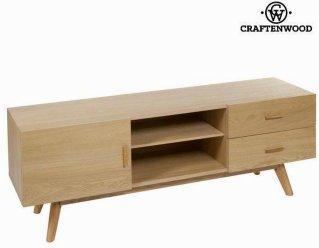 Craftenwood Eik tv-bord med 2 skuffer