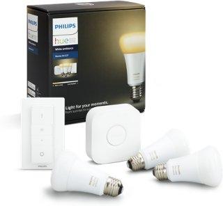 Philips Hue White Ambiance Startpakke E27 3pk med dimmer