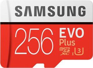 MicroSD Evo Plus 256GB med SD-adapter