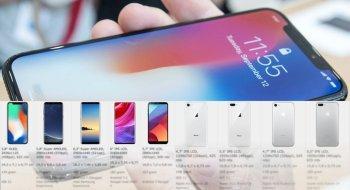 Se sammenligningen av de nye iPhonene mot rivalene