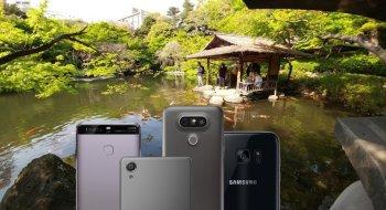 Vi tok med oss de beste mobilkameraene på markedet til en klassisk japansk hage