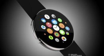 Slik kunne Apple Watch sett ut med rund skjerm