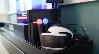 PlayStation VR headset 2018+PS4 kamera og VR Worlds EU VR
