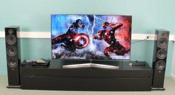 best pris p samsung ue55ks8005 se priser f r kj p i prisguiden. Black Bedroom Furniture Sets. Home Design Ideas