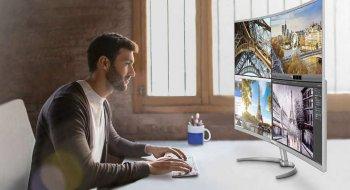 Philips slipper gigantisk, kurvet 4K-skjerm