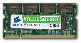 Corsair ValueSelect DDR2 SODIMM 667MHz 1GB CL5 (1x1GB)