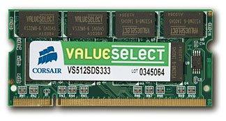Corsair ValueSelect DDR2 SO-DIMM 667MHz 2GB CL5 (2x1GB)