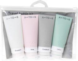 A-TO-B reiseflasker i silikon (4 stk)