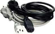 MicroConnect Power Cord 3m Black IEC320