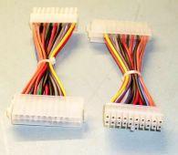 MicroConnect Power 20pin-24pin M / F 0,25m