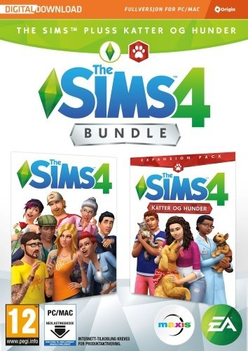 The Sims 4 bundle: Sims 4 + Katter og hunder (PC/Mac)