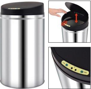 VidaXL Søppelbøtte med sensor 52L