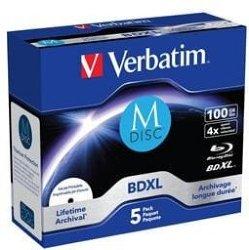 Verbatim 4x M-Disc BD-R XL 100GB 5 stk