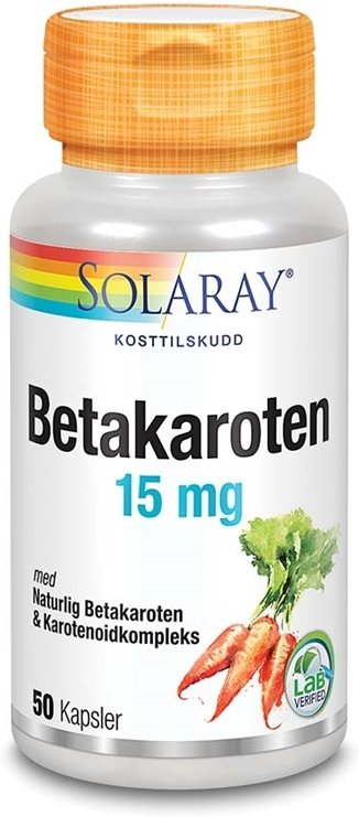 Solaray Betakaroten 15mg