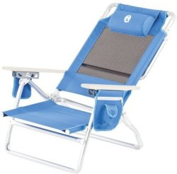 Coleman Low Recliner Chair Beach