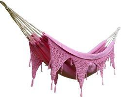 Hengekøye Indisk enkel rosa