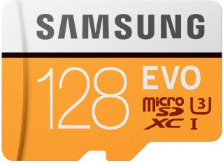 Samsung MicroSD Evo 128GB med SD-adapter