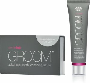 Smile lab Groom Advanced Teeth Whitening Strips and Whitening Toothpaste