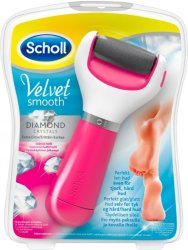 Scholl Velvet Smooth Diamond Wet & Dry elektrisk fotfil rosa
