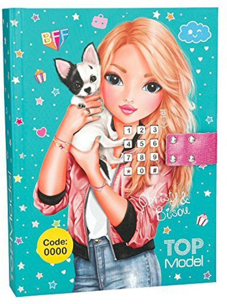 Top Model dagbok m/kodelås og musikk
