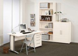 Prima skrivebord m/skuffeseksjon