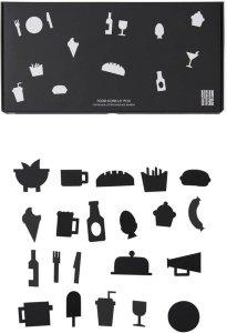 Design Letters Food Icons for oppslagstavle
