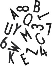 Design Letters store bokstaver/tall