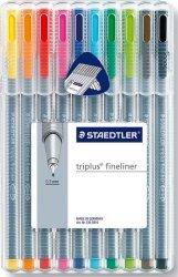 Staedtler Triplus Fineliner (ass.farger - 10 stk)