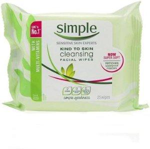 Simple Cleansing Facial Wipes 25stk 2pk